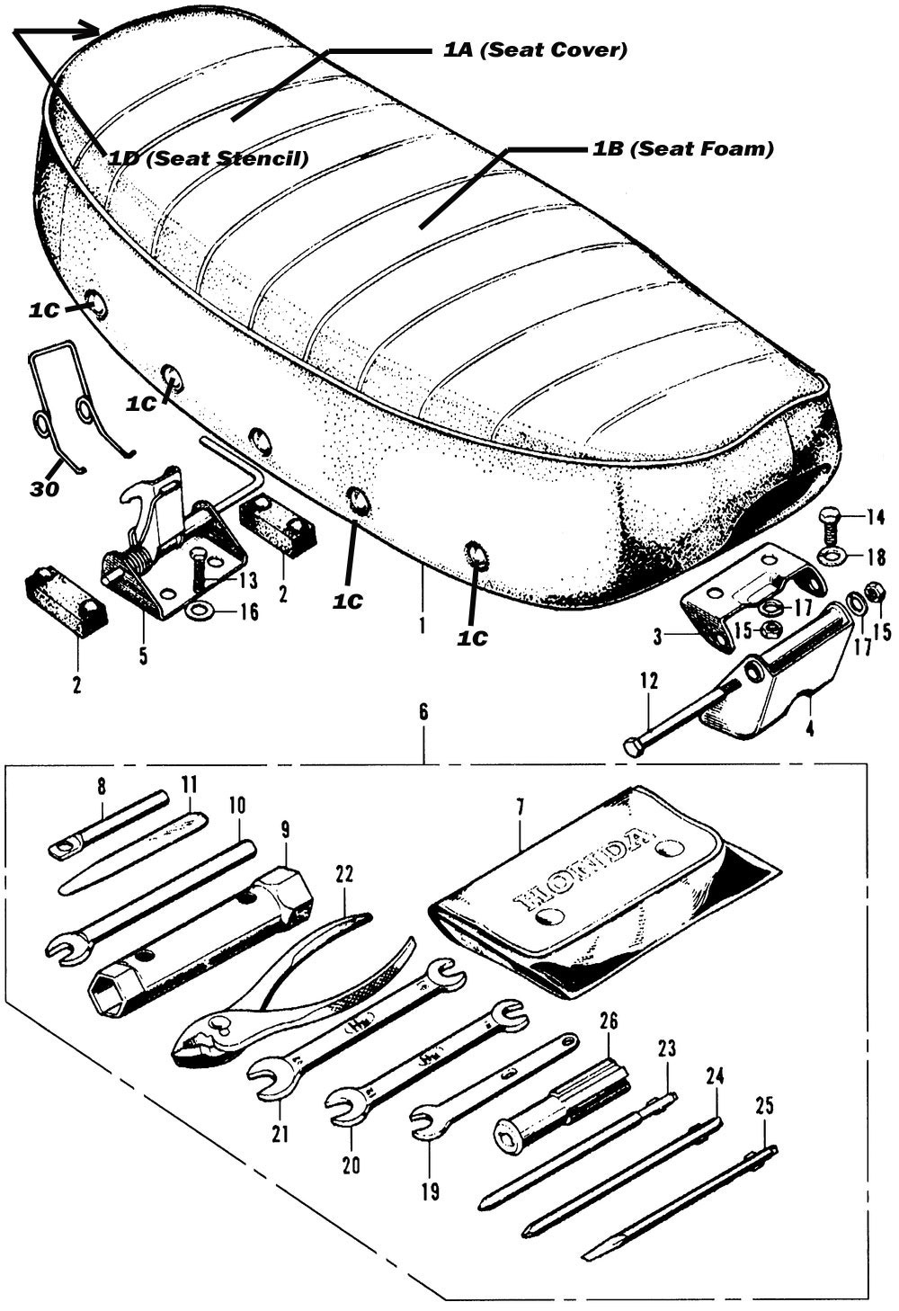 Seat, and Tools
