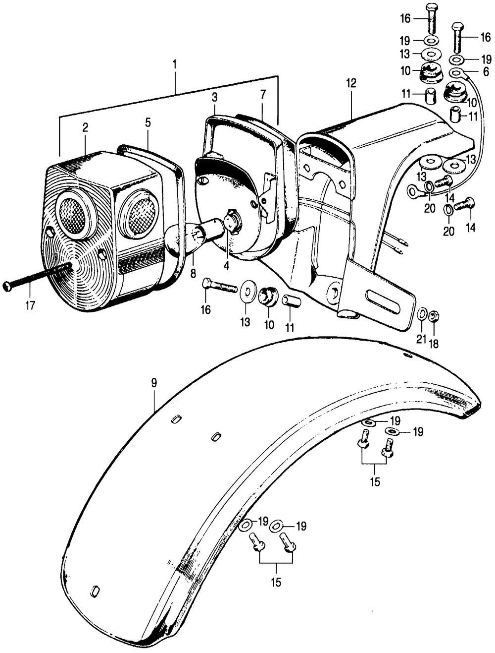 Taillight, Rear Fender
