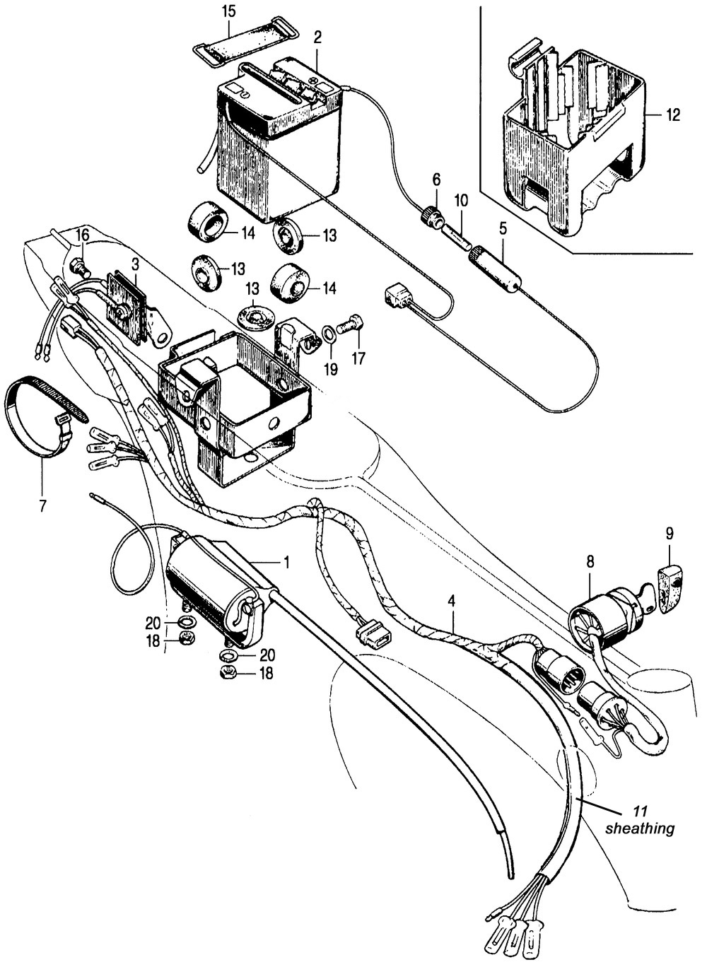 Wiring Harness, Battery