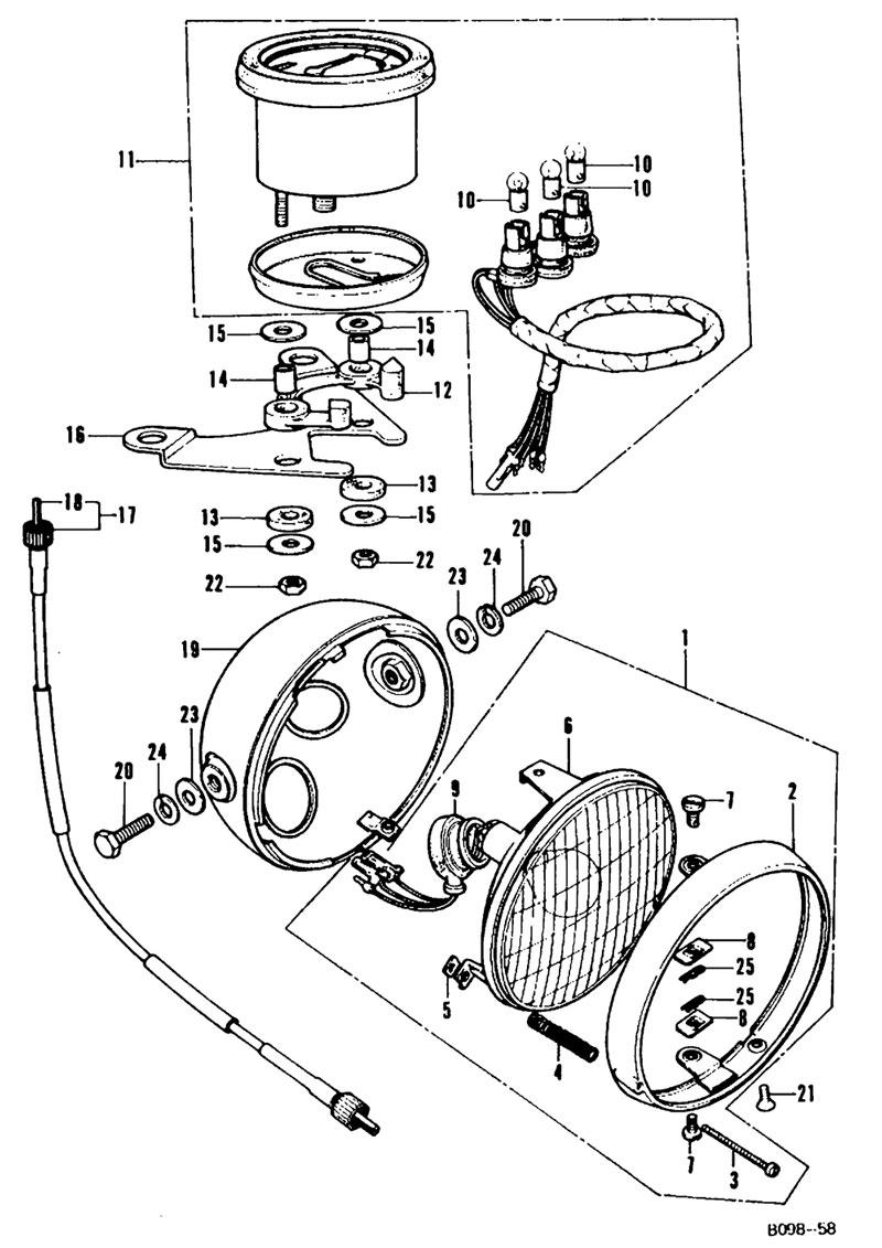 Headlight and Speedometer
