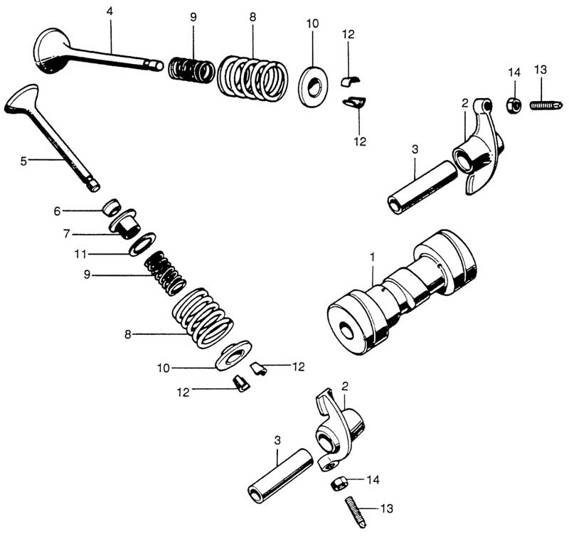 Camshaft and Valves