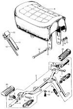 Seat and Footpeg Assy