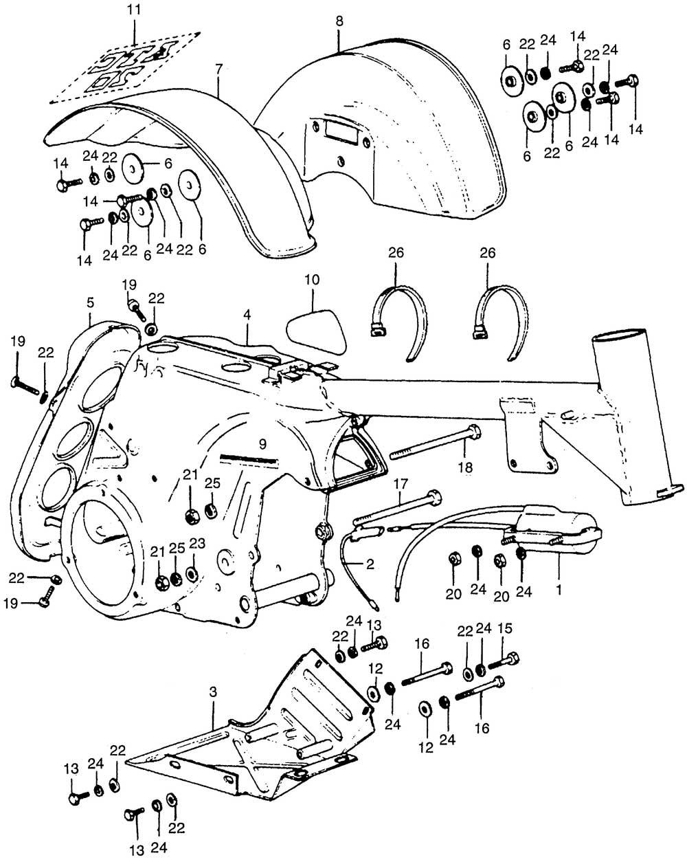 Frame, Rear Fender & Ignition