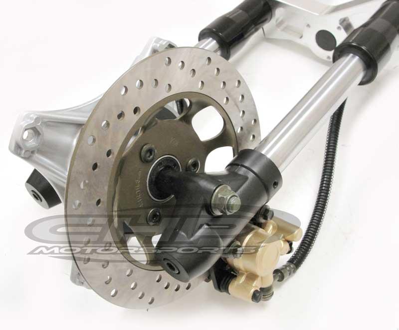 Hydraulic front Suspension  Inverted front forks, BLACK fork tubes