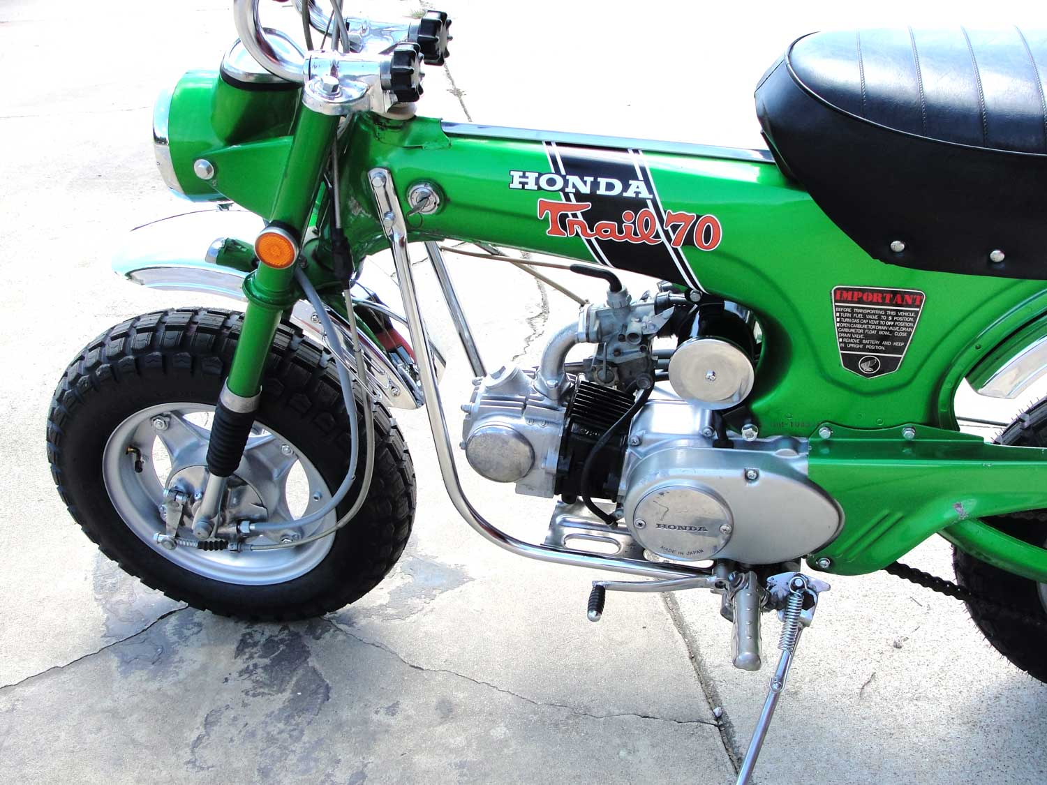 Bfs Ct70 H Ko Original Shriner Bike 899 Miles Emerald Green With 1970 Honda Moped If You Have Any Question About This Other Of The Bikes That We Will Be Listing Please Do Not Hesitate To Reach Out Price 467500 Sold