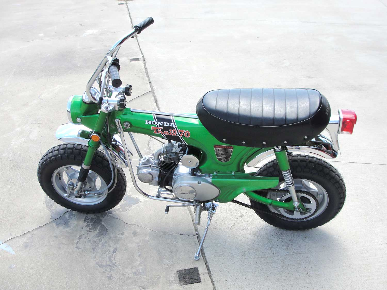 Bfs Ct70 H Ko Original Shriner Bike 899 Miles Emerald Green With 1970 Honda Battery If You Have Any Question About This Other Of The Bikes That We Will Be Listing Please Do Not Hesitate To Reach Out Price 467500 Sold