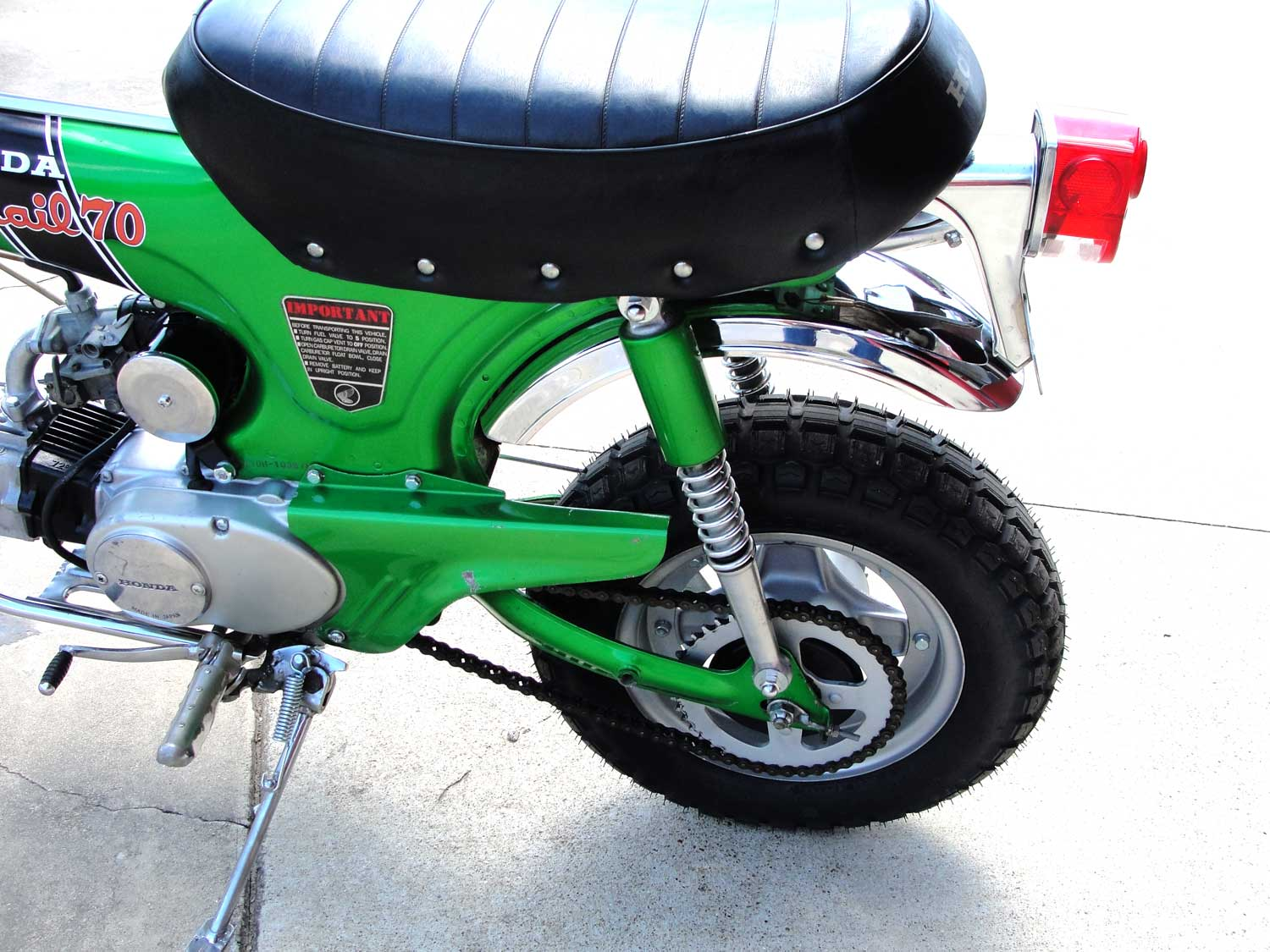 Bfs Ct70 H Ko Original Shriner Bike 899 Miles Emerald Green With 1970 Honda Paint If You Have Any Question About This Other Of The Bikes That We Will Be Listing Please Do Not Hesitate To Reach Out Price 467500 Sold