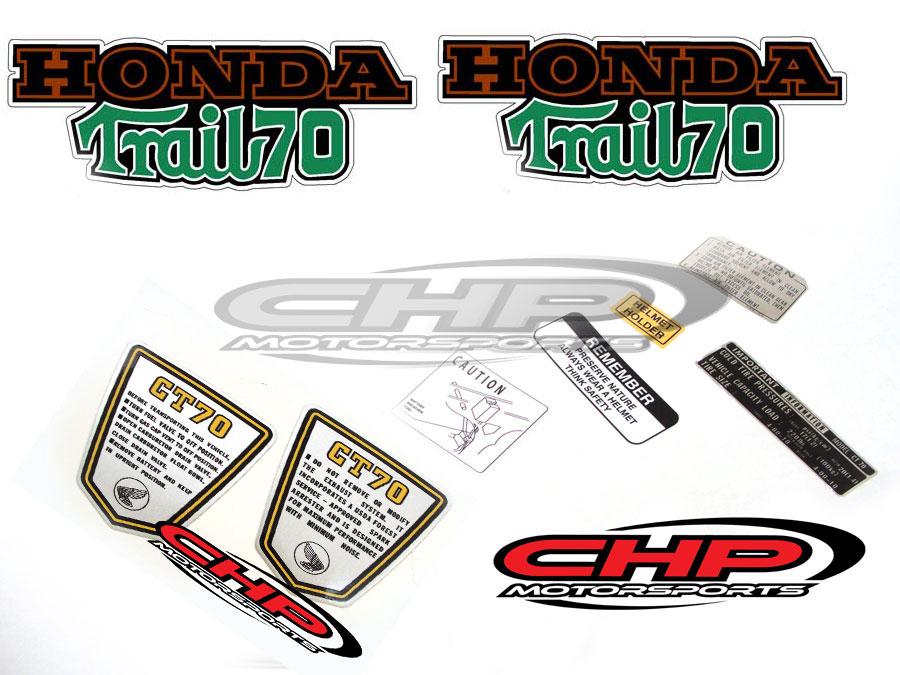 Side Badges,For Honda CT70 K3 silk screened on Aluminum